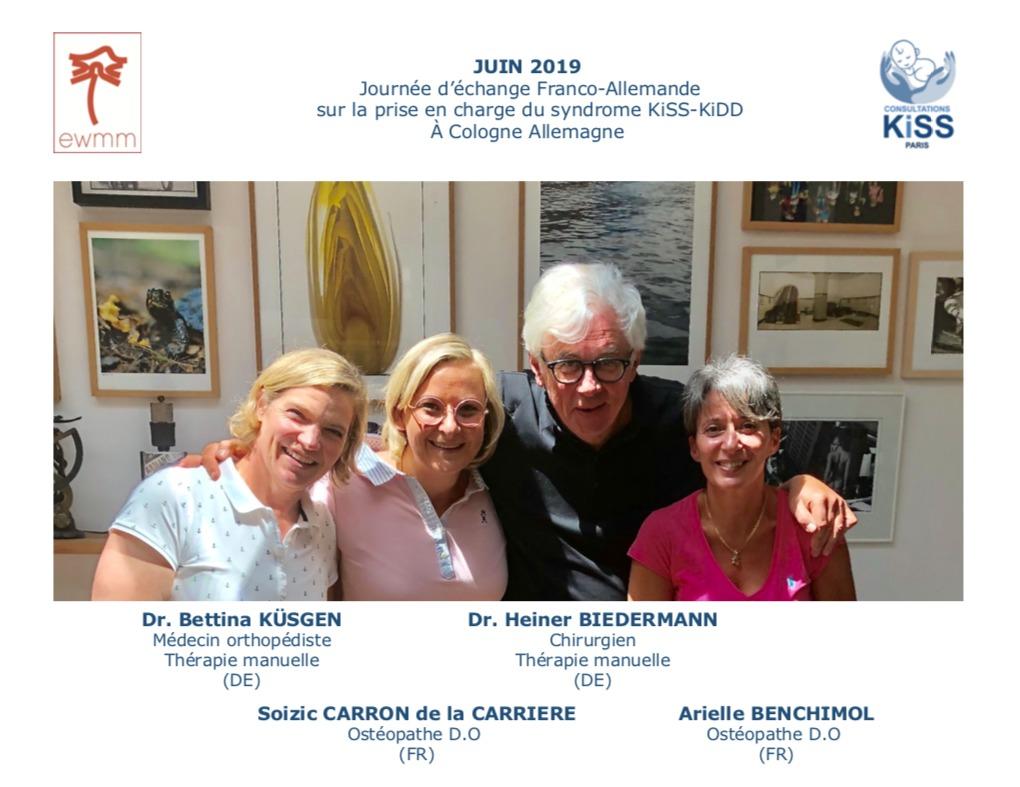 Journée d'échange Franco-Allemande avec l'équipe du Dr Heiner BIEDERMANN sur la prise en charge du syndrome KiSS-KiDD à Cologne (Allemagne)